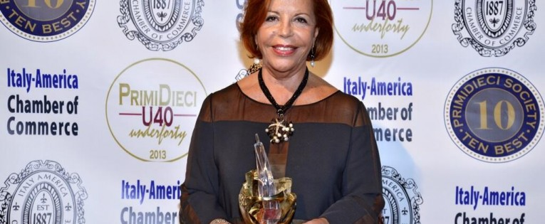LELLA GOLFO THE ITALY AMERICA CHAMBER OF COMMERCE BUSINESS AND CULTURE AWARD 2013